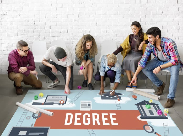 What is the difference between Associates, Bachelors, Undergraduate, and Graduate degrees?